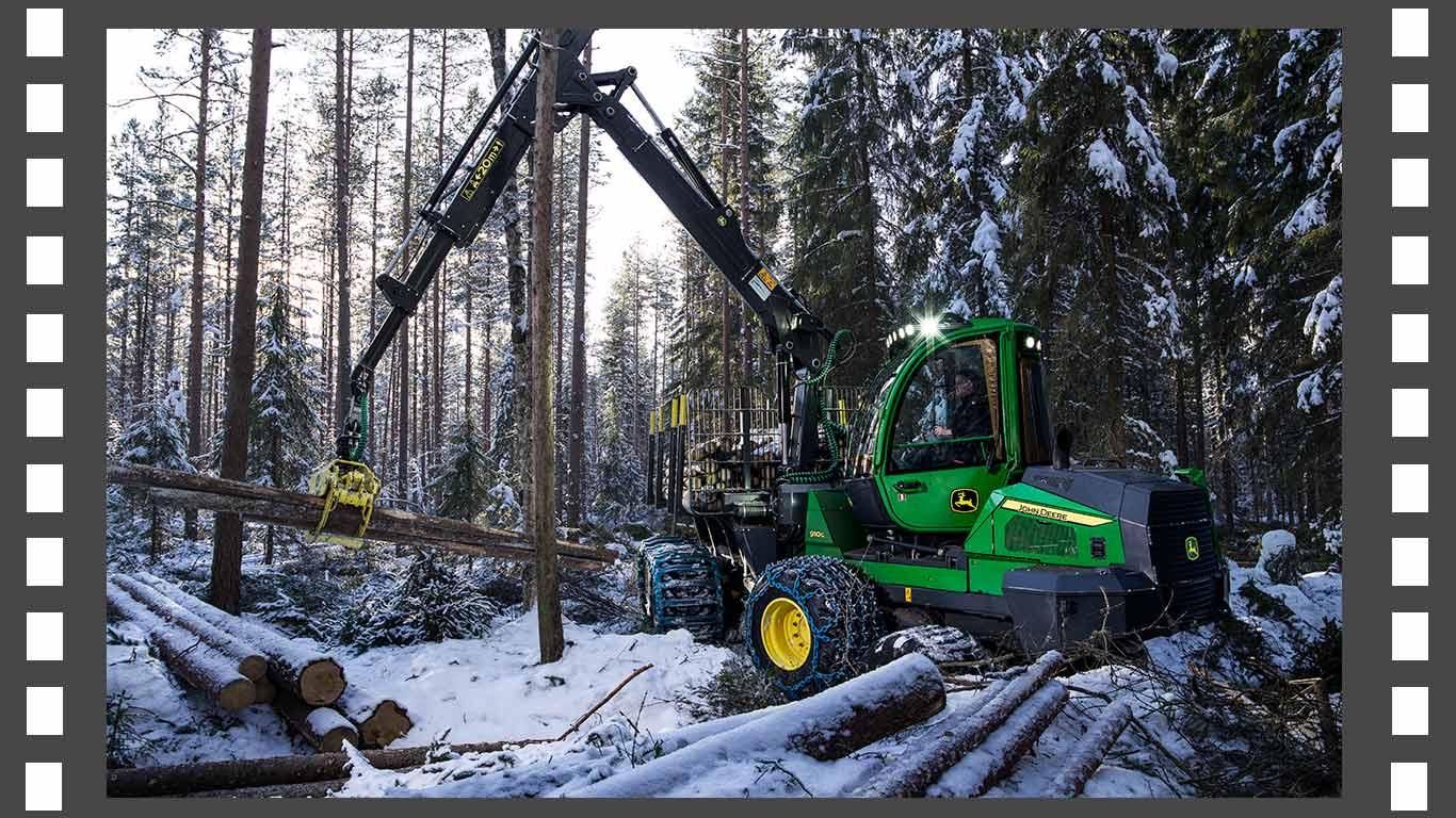 John Deere skogsmaskinvideos