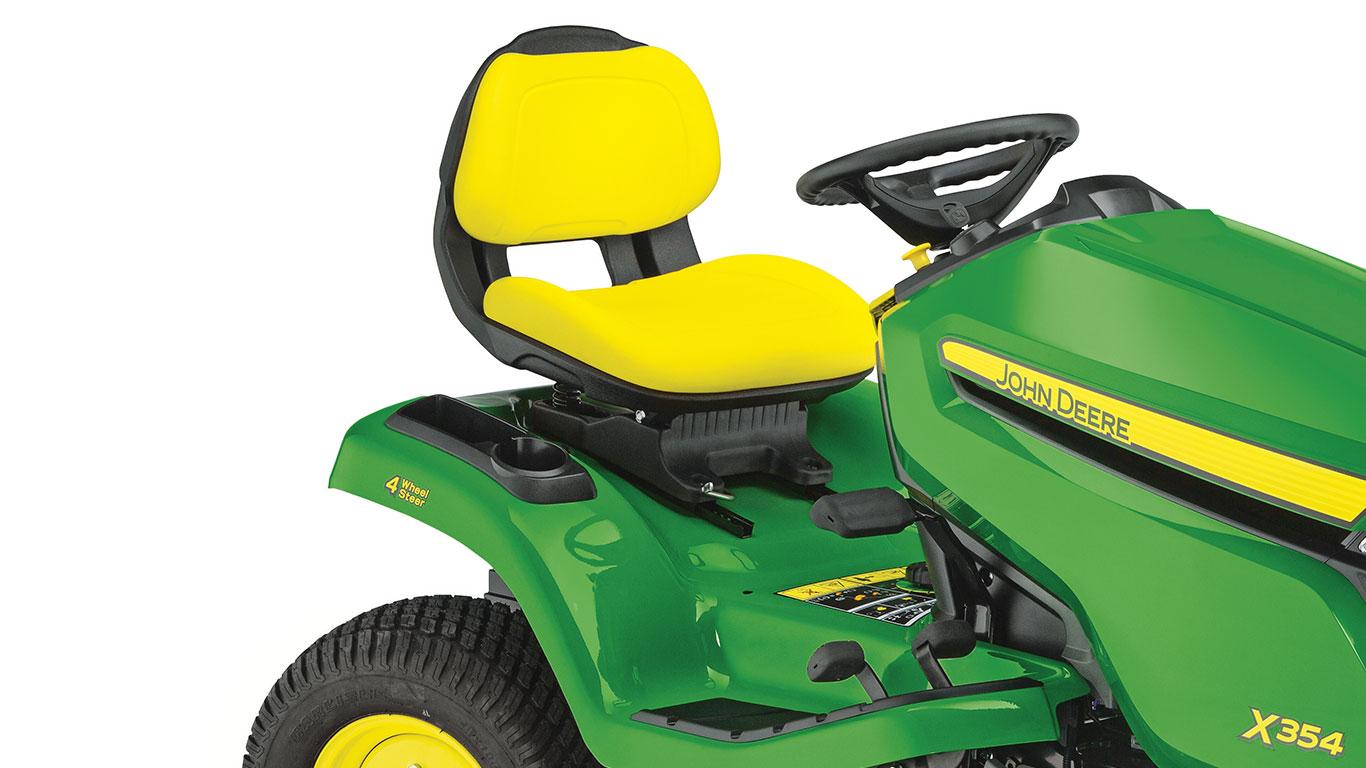 Trädgårdstraktorer X354 ultra-komfortabelt säte