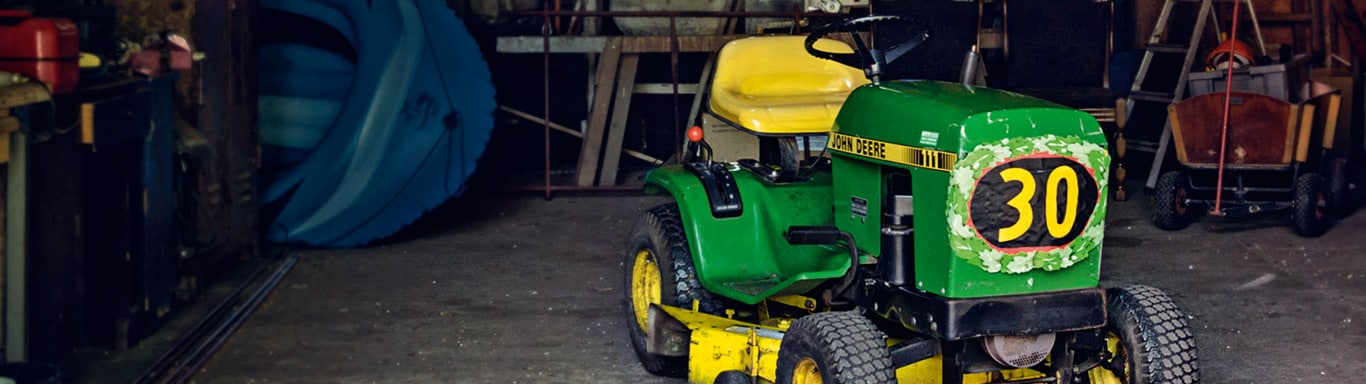 Old Lawn Riding Mower, Homeowner, Barn