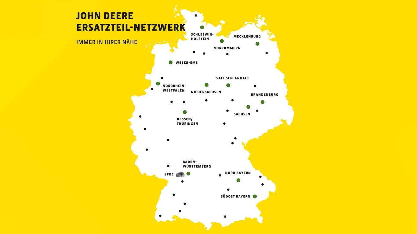 John Deere Ersatzteil-Netzwerk