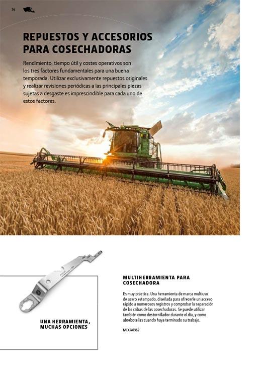 Repuestos y accesorios para cosechadoras