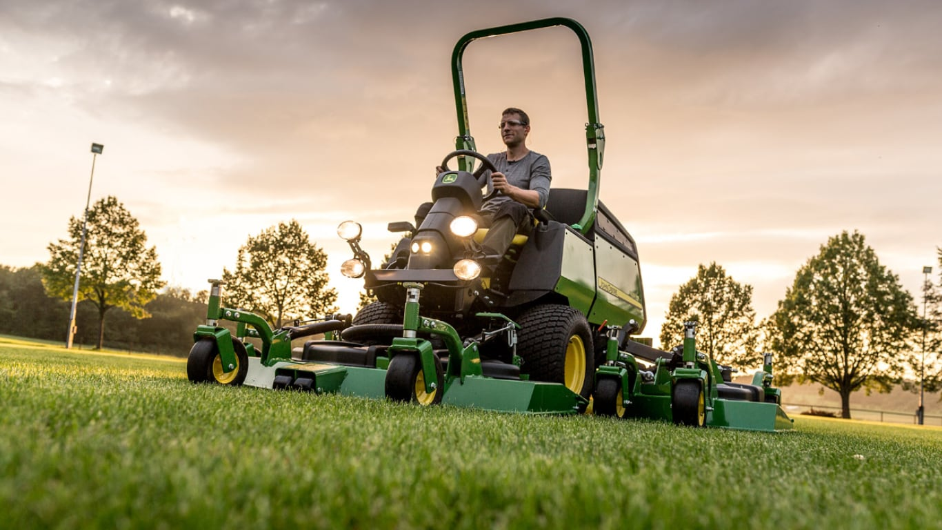 The 1600T and the 1505 and 1515 high performance rotary mowers.