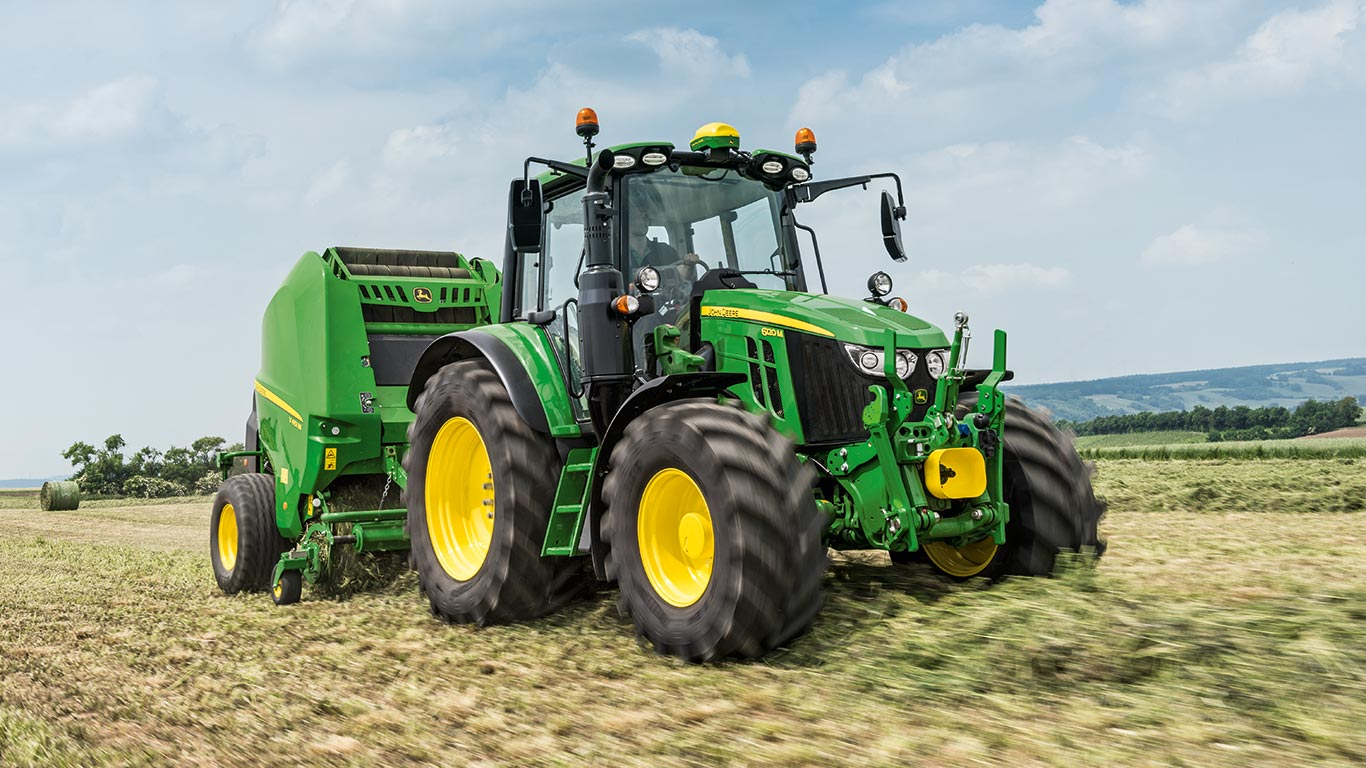 6M Series MY2020 of mid size farm tractors by John Deere